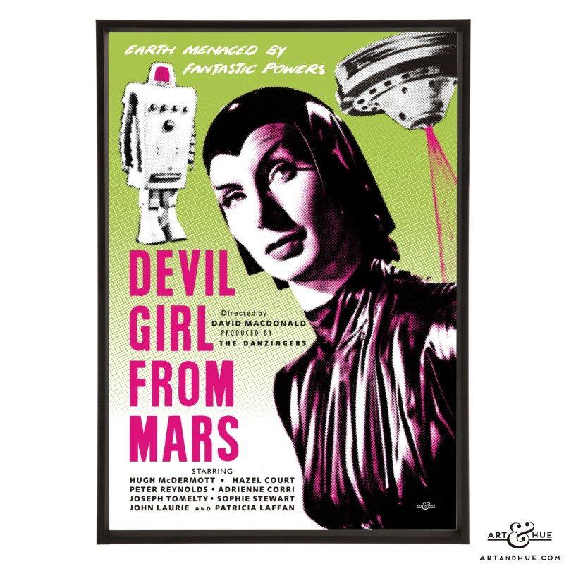 Devil Girl from Mars Poster stylish pop art print by Art & Hue