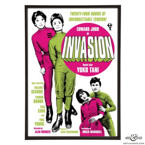 Invasion stylish pop art print by Art & Hue