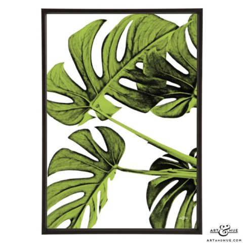 Leaves stylish pop art print by Art & Hue