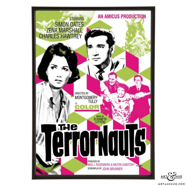 The Terrornauts stylish pop art print by Art & Hue