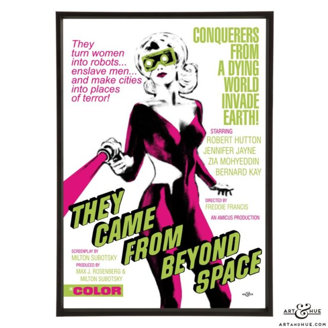 They Came From Beyond Space stylish pop art print by Art & Hue