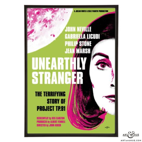 Unearthly Stranger stylish pop art print by Art & Hue