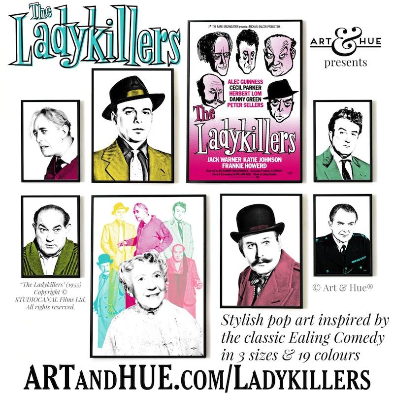 Art & Hue presents The Ladykillers stylish pop art prints