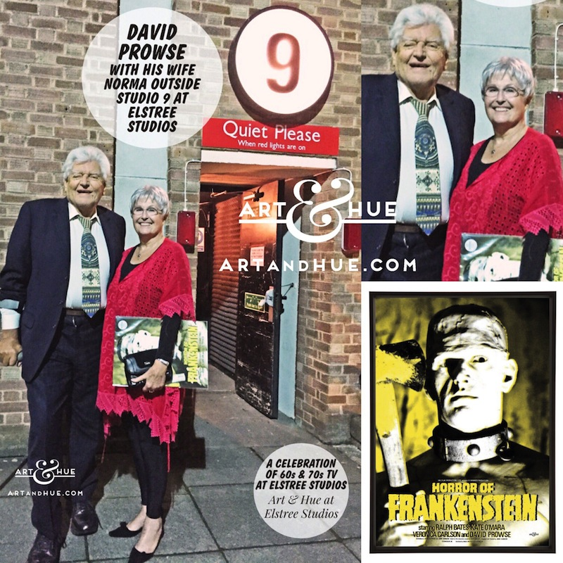 David Prowse with his wife Norma outside Studio 9 at Elstree Studios