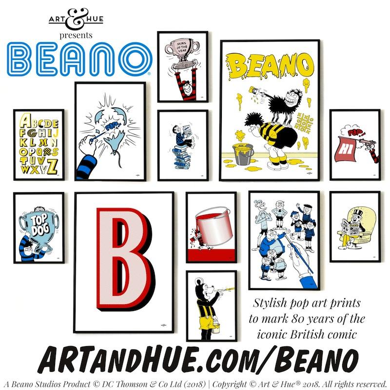 Beano pop art by Art & Hue
