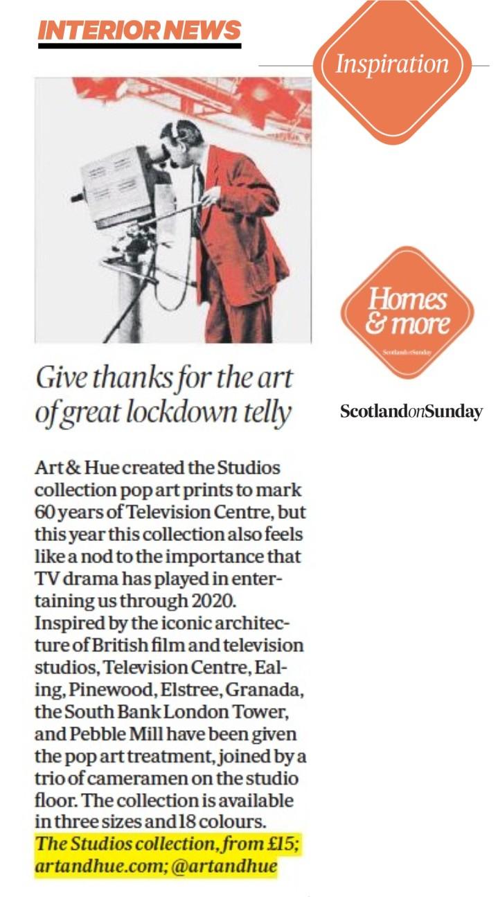 Scotland On Sunday Interiors Studios Homes & More News