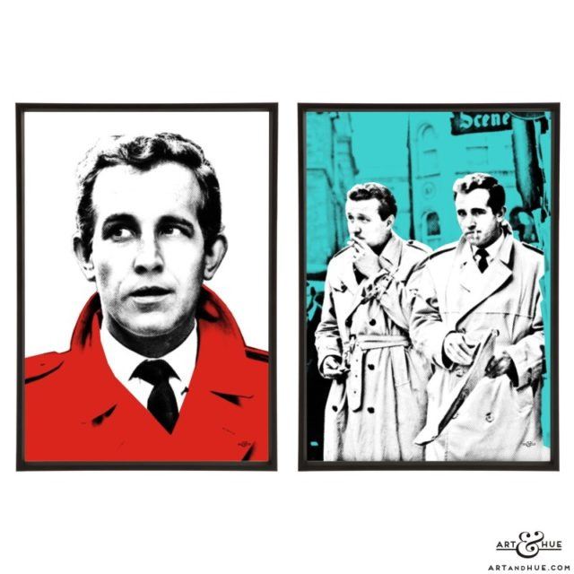 Steed & Keel pair of pop art prints by Art & Hue