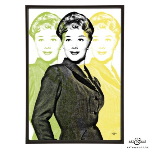 Glynis Johns stylish pop art print by Art & Hue