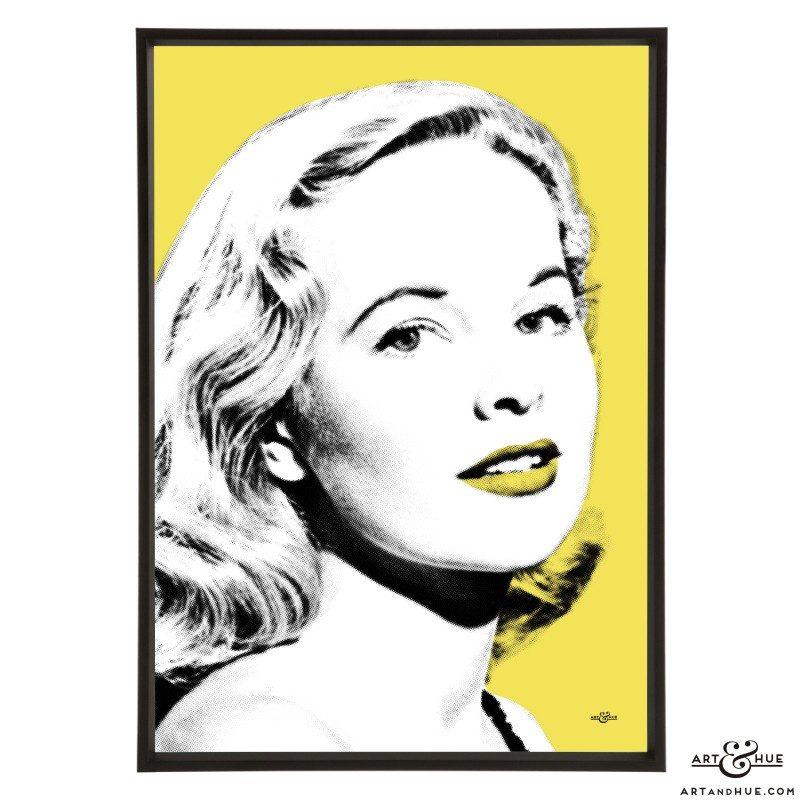 Peggy Cummins stylish pop art by Art & Hue