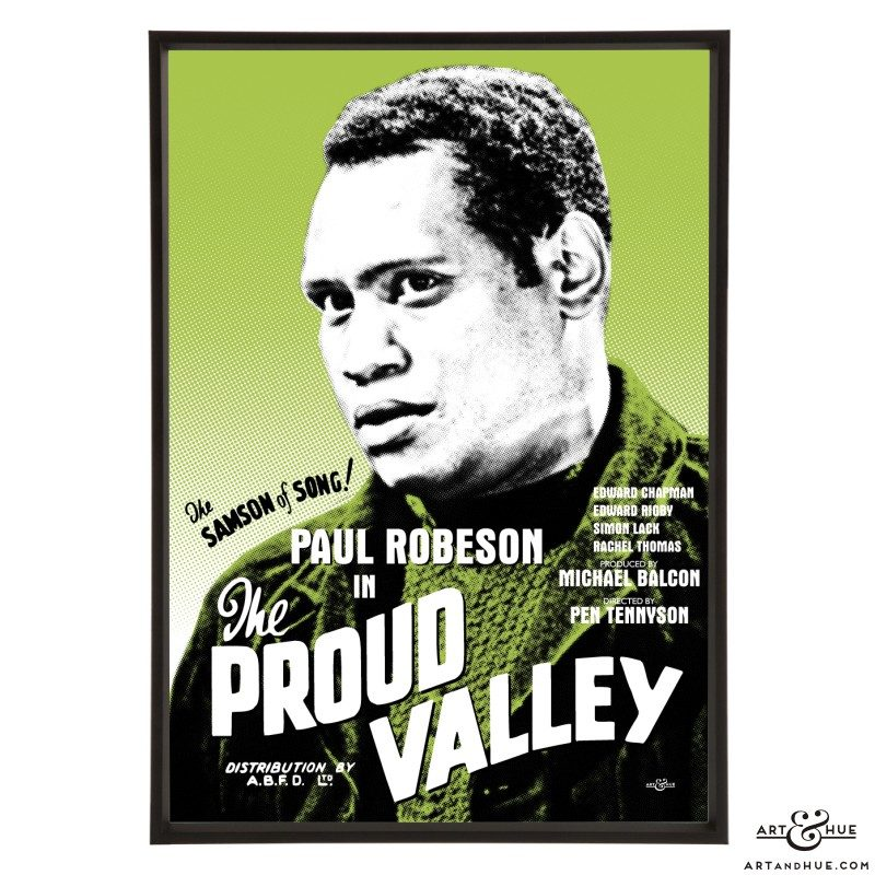 Paul Robeson in The Proud Valley stylish pop art print by Art & Hue