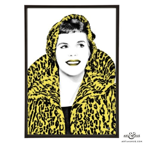 Rachel Roberts stylish pop art print by Art & Hue