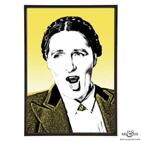 Rachel Thomas styilsh pop art print by Art & Hue