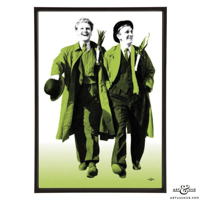 A Run for your Money stylish pop art print by Art & Hue with Donald Houston & Meredith Edwards in the classic Welsh Ealing comedy