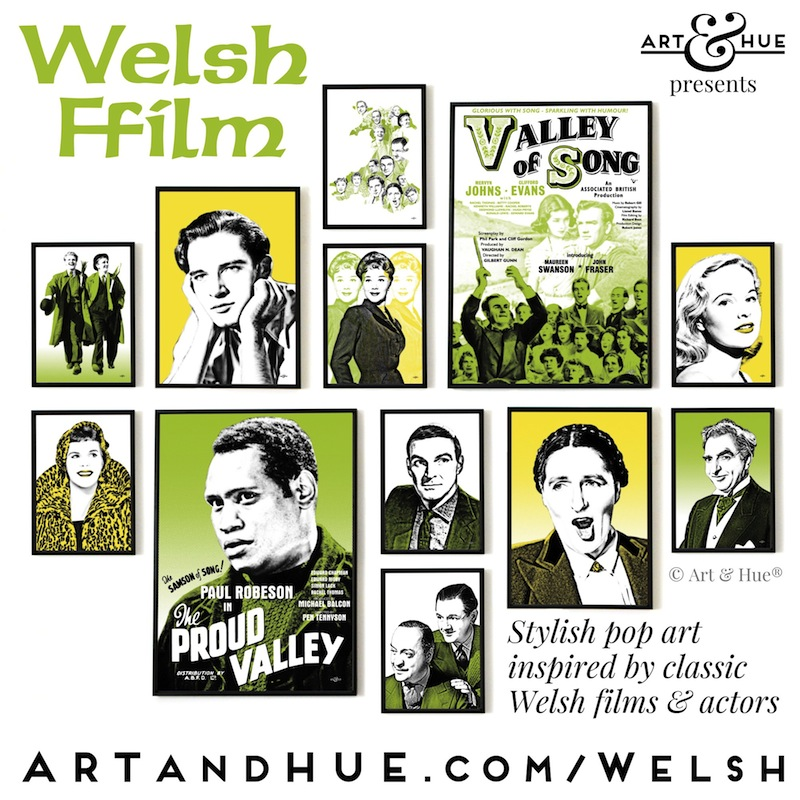 Welsh Ffilm pop art collection by Art & Hue