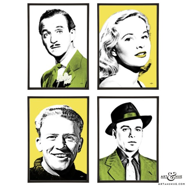The Love Lottery group of pop art prints by Art & Hue