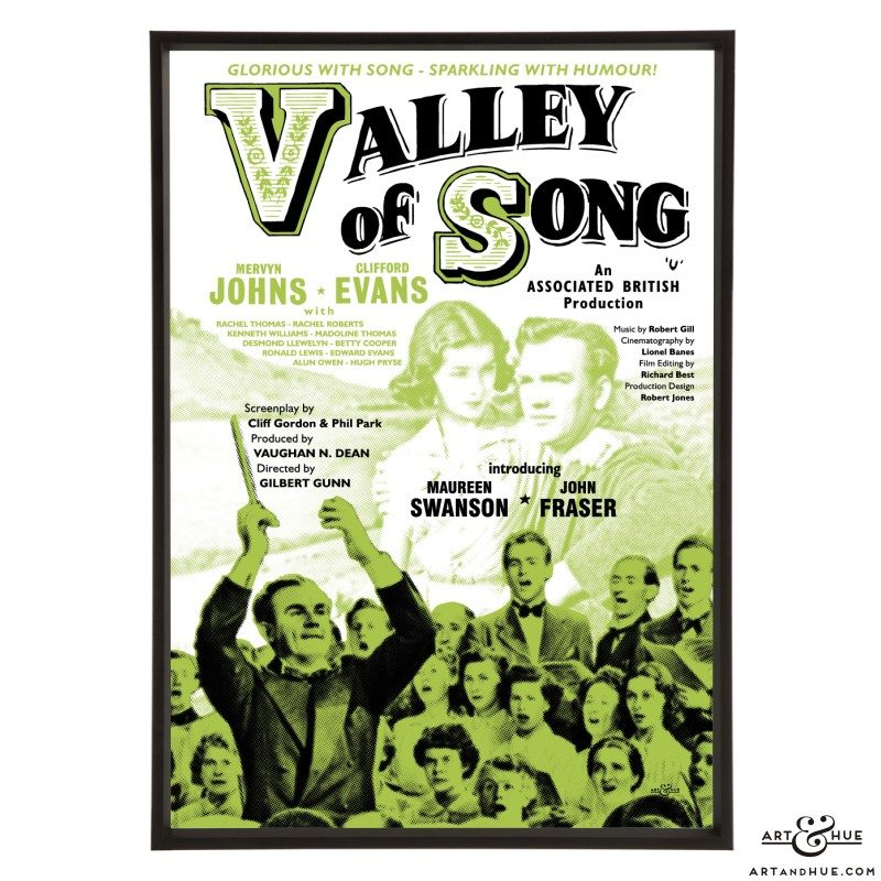 Valley of Song stylish pop art print by Art & Hue