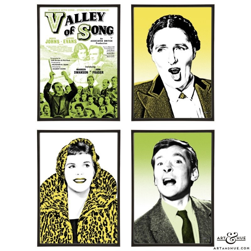 Valley of Song group of stylish pop art prints by Art & Hue