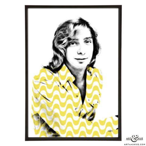 Barry Manilow stylish pop art prints by Art & Hue
