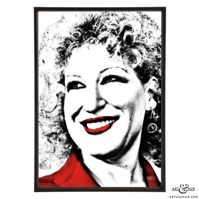 Bette Midler stylish pop art prints by Art & Hue