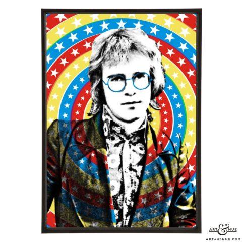 Elton John stylish pop art prints by Art & Hue