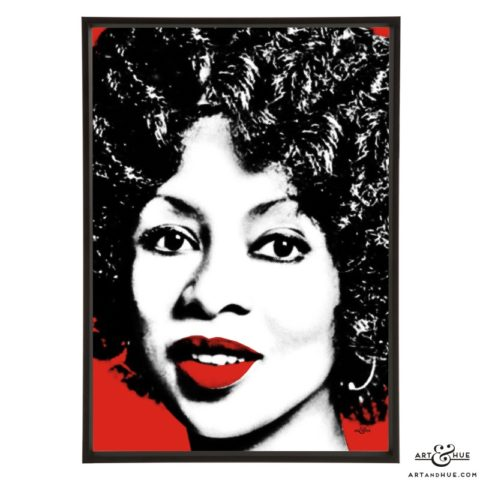 Lola Falana stylish pop art prints by Art & Hue