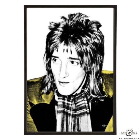 Rod Stewart stylish pop art prints by Art & Hue