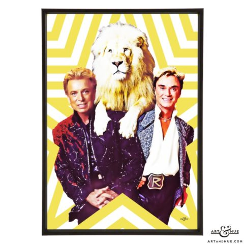 Siegfried and Roy stylish pop art prints by Art & Hue