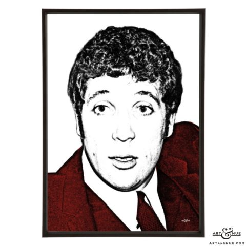 Tom Jones stylish pop art prints by Art & Hue