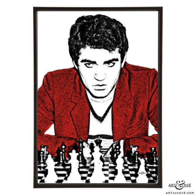 Kasparov Garry stylish pop art print by Art & Hue
