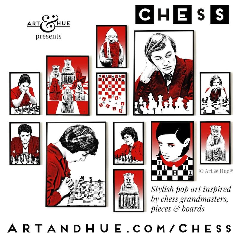 Chess pop art by Art & Hue