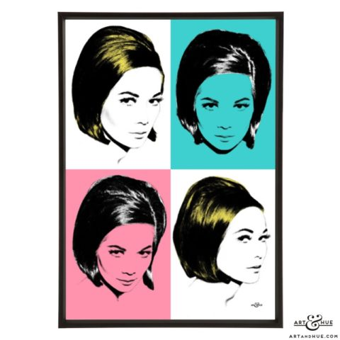 Kwan Quad stylish pop art print by Art & Hue