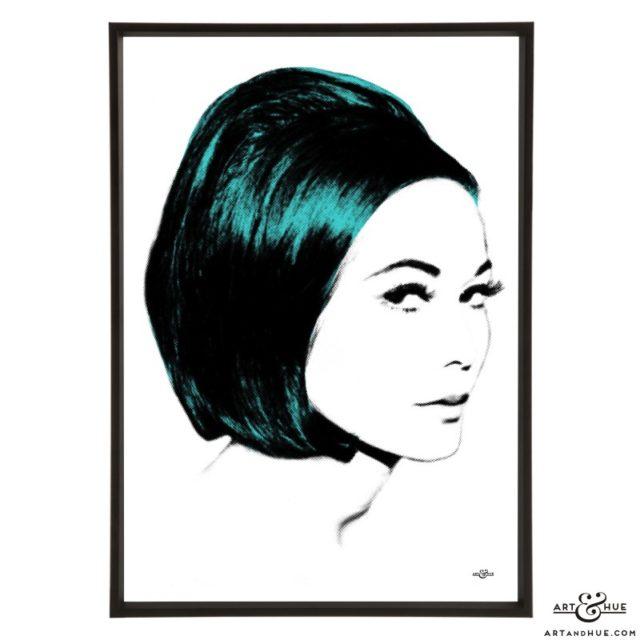 Nancy Bob stylish pop art print by Art & Hue