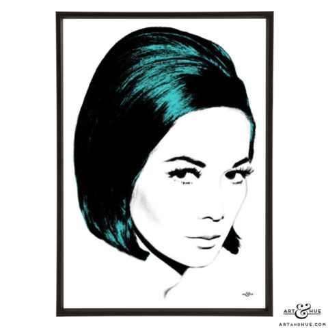 Nancy Kwan stylish pop art print by Art & Hue