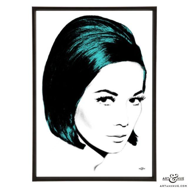 Nancy Kwan stylish pop art print by Art & Hue