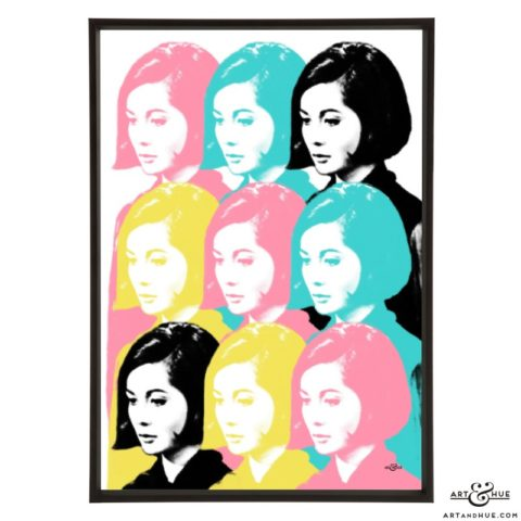 Nancy Nine stylish pop art print by Art & Hue