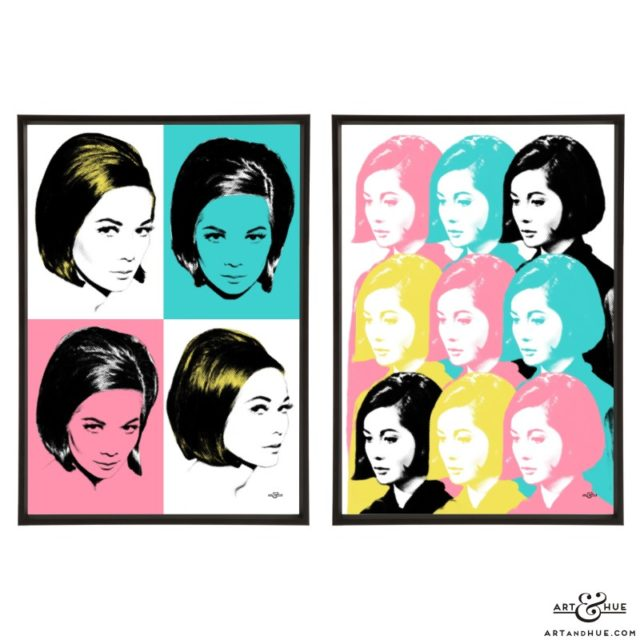 Nancy Kwan Pair of stylish pop art prints by Art & Hue
