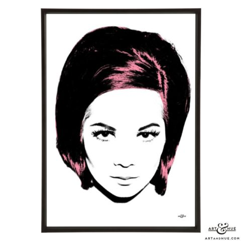 Nancy stylish pop art print by Art & Hue