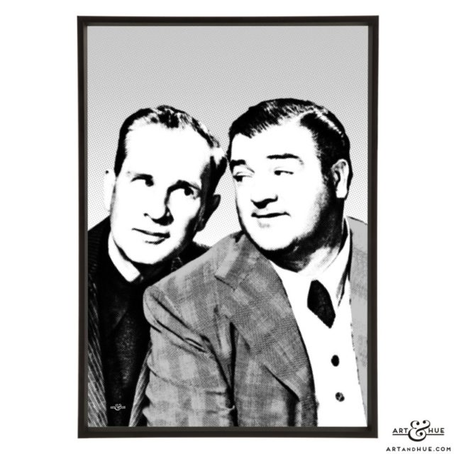 Abbott & Costello stylish pop art by Art & Hue