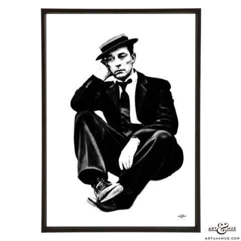 Buster Keaton stylish pop art by Art & Hue