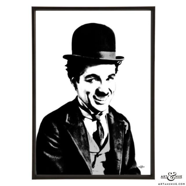 Charlie Chaplin stylish pop art print by Art & Hue