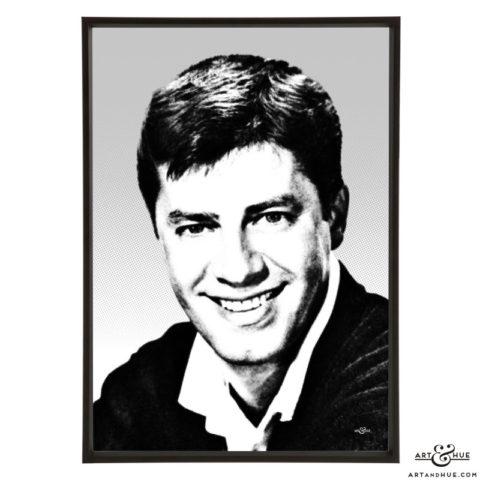 Jerry Lewis stylish pop art by Art & Hue