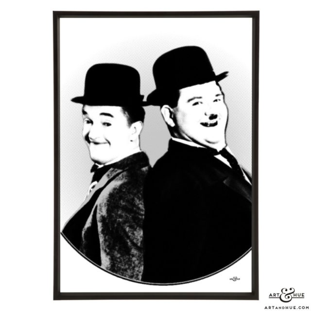 Laurel & Hardy stylish pop art print by Art & Hue