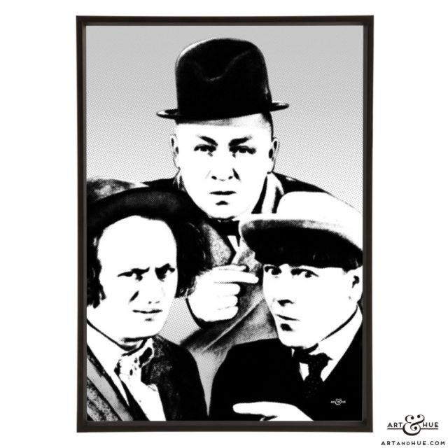 The Three Stooges stylish pop art by Art & Hue