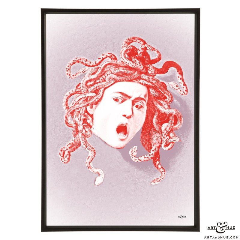Caravaggio's Medusa stylish pop art by Art & Hue