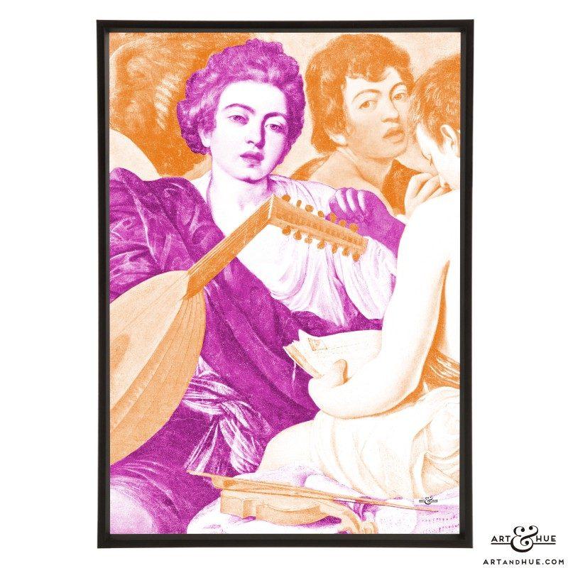 Caravaggio's The Musicians stylish pop art print by Art & Hue