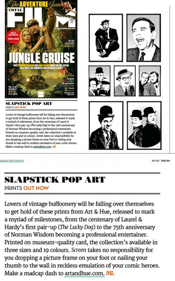 Slapstick pop art in Total Film Magazine