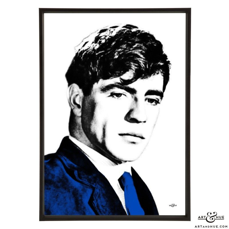 Alan Bates stylish pop art print by Art & Hue