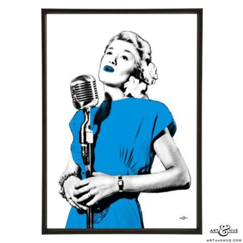 June Christy stylish pop art print by Art & Hue