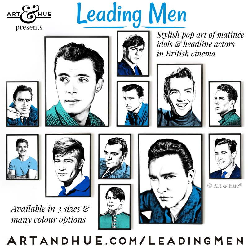 Leading Men stylish pop art by Art & Hue