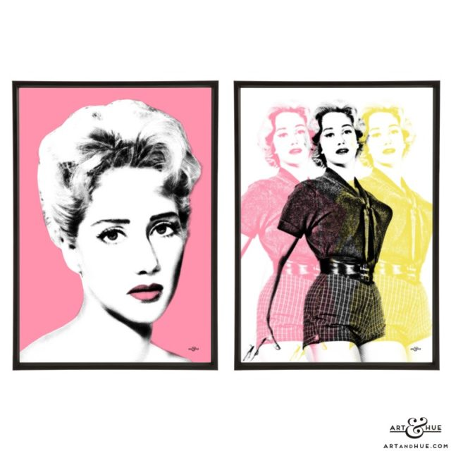 Liz Fraser pair of stylish pop art prints by Art & Hue
